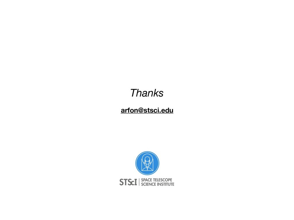 Thanks arfon@stsci.edu