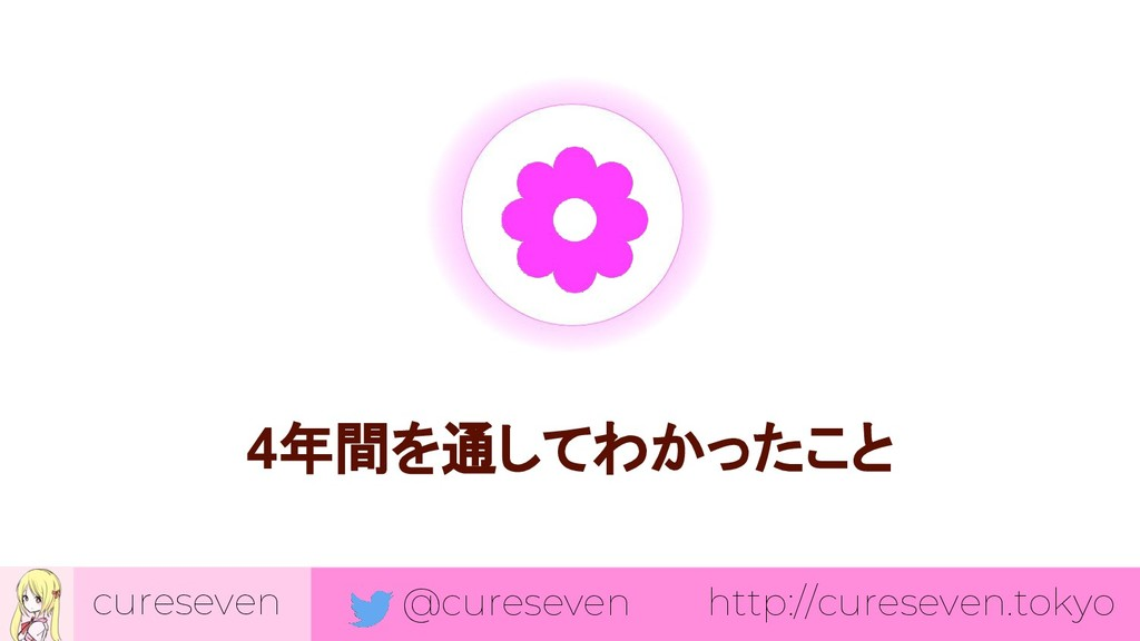 cureseven @cureseven http://cureseven.tokyo 4年間...