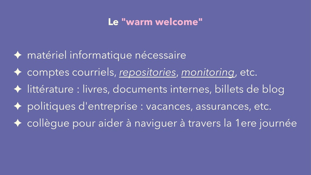 """Le """"warm welcome"""" ✦ matériel informatique néces..."""