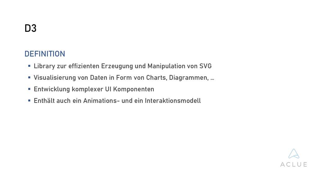 D3 DEFINITION  Library zur effizienten Erzeugu...