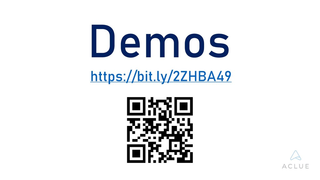 Demos https://bit.ly/2ZHBA49