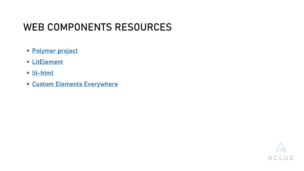 WEB COMPONENTS RESOURCES  Polymer project  Li...