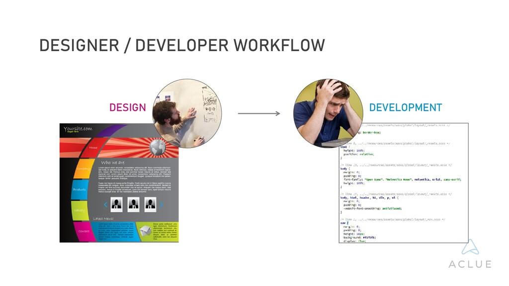 DESIGN DEVELOPMENT DESIGNER / DEVELOPER WORKFLOW