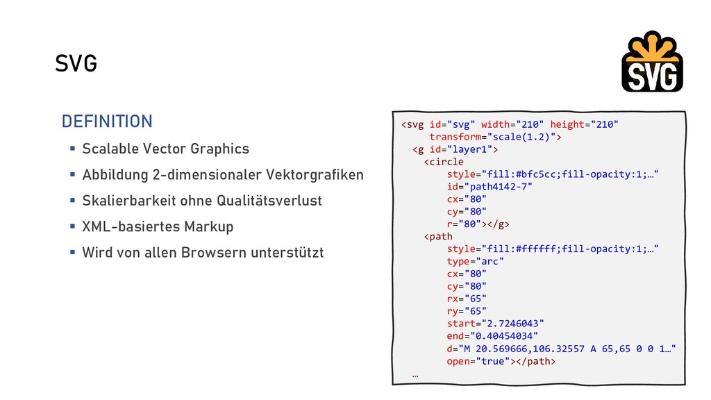 SVG DEFINITION  Scalable Vector Graphics  Abb...