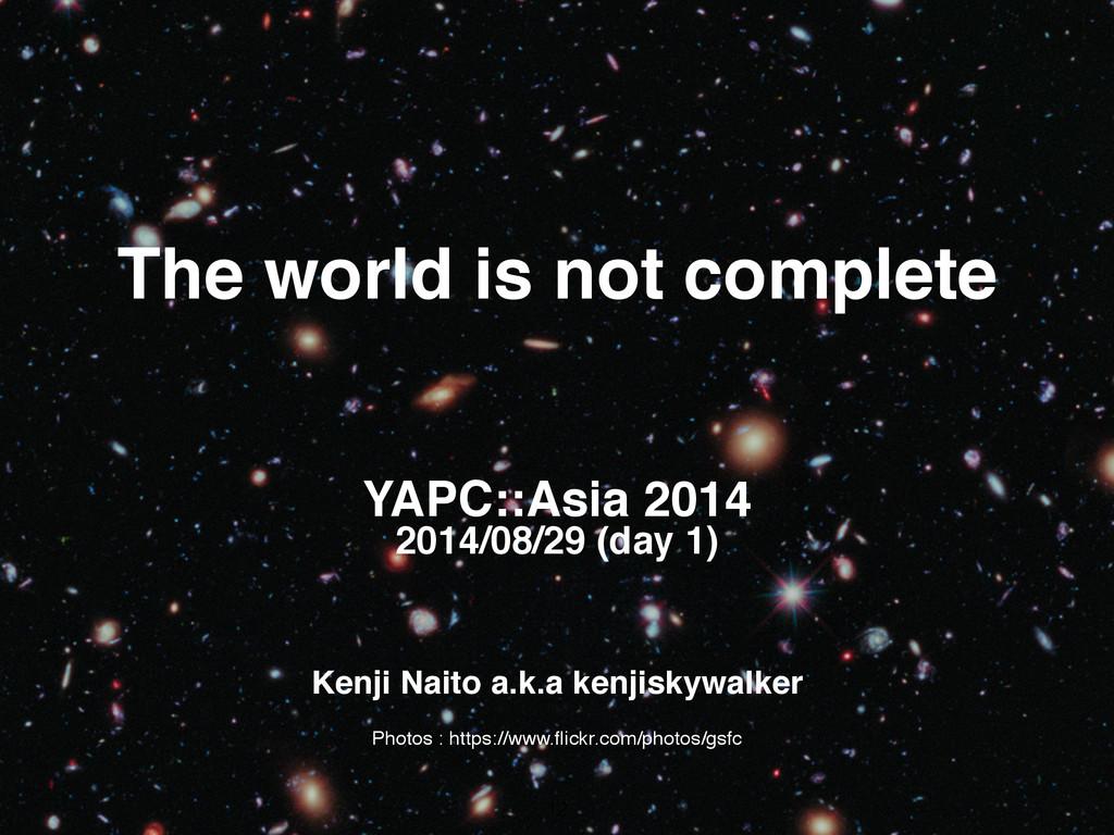 Kenji Naito a.k.a kenjiskywalker The world is n...