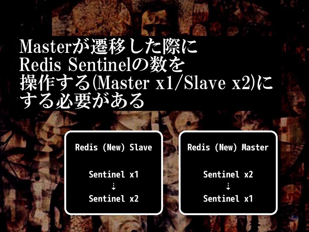 Masterが遷移した際に  Redis Sentinelの数を  操作する(Maste...