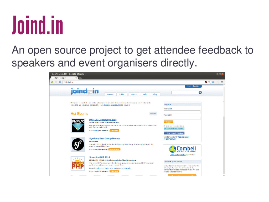 Joind.in An open source project to get attendee...