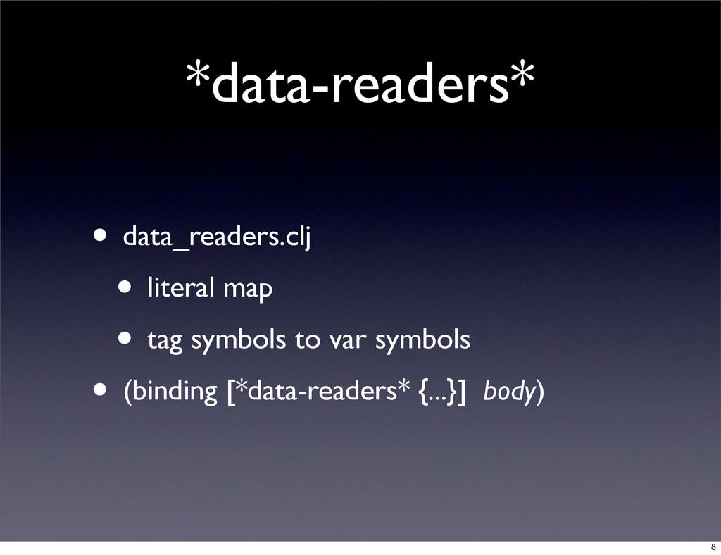 *data-readers* • data_readers.clj • literal map...