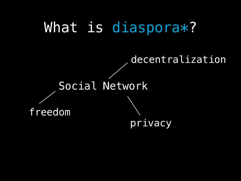 What is diaspora*? Social Network decentralizat...