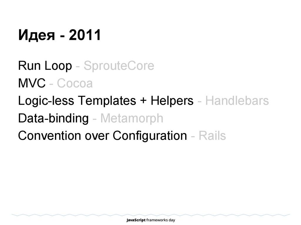 Идея - 2011 Run Loop - SprouteCore MVC - Cocoa ...