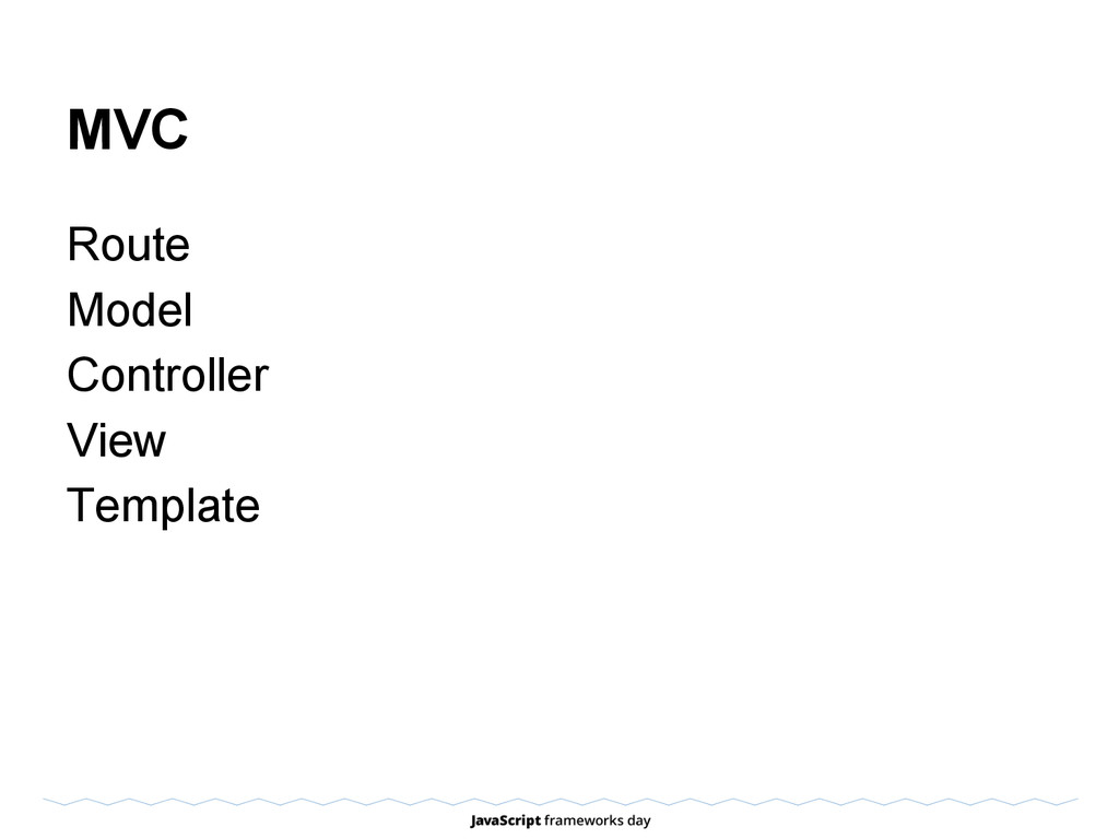 MVC Route Model Controller View Template