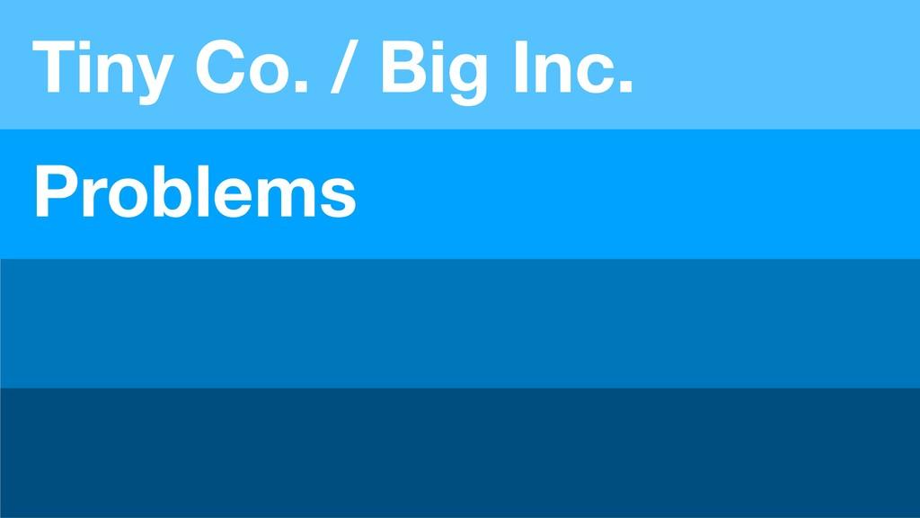Problems Tiny Co. / Big Inc.