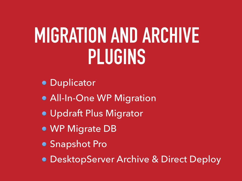 MIGRATION AND ARCHIVE PLUGINS Duplicator All-In...