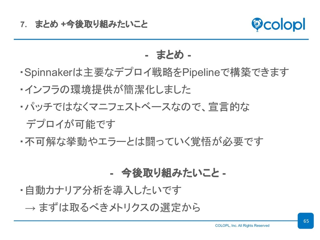 COLOPL, Inc. All Rights Reserved - まと...