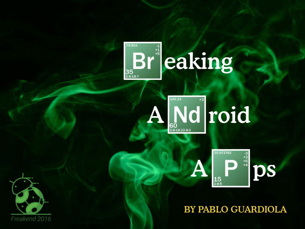 eaking A roid A ps BY PABLO GUARDIOLA