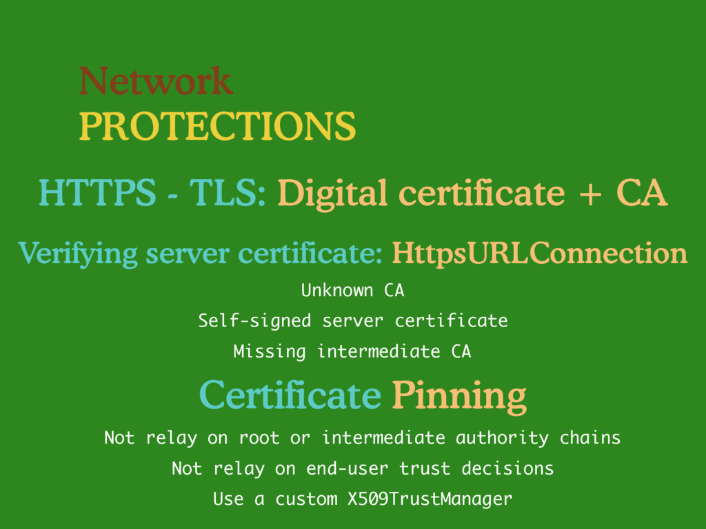 Network PROTECTIONS HTTPS - TLS: Digital certif...