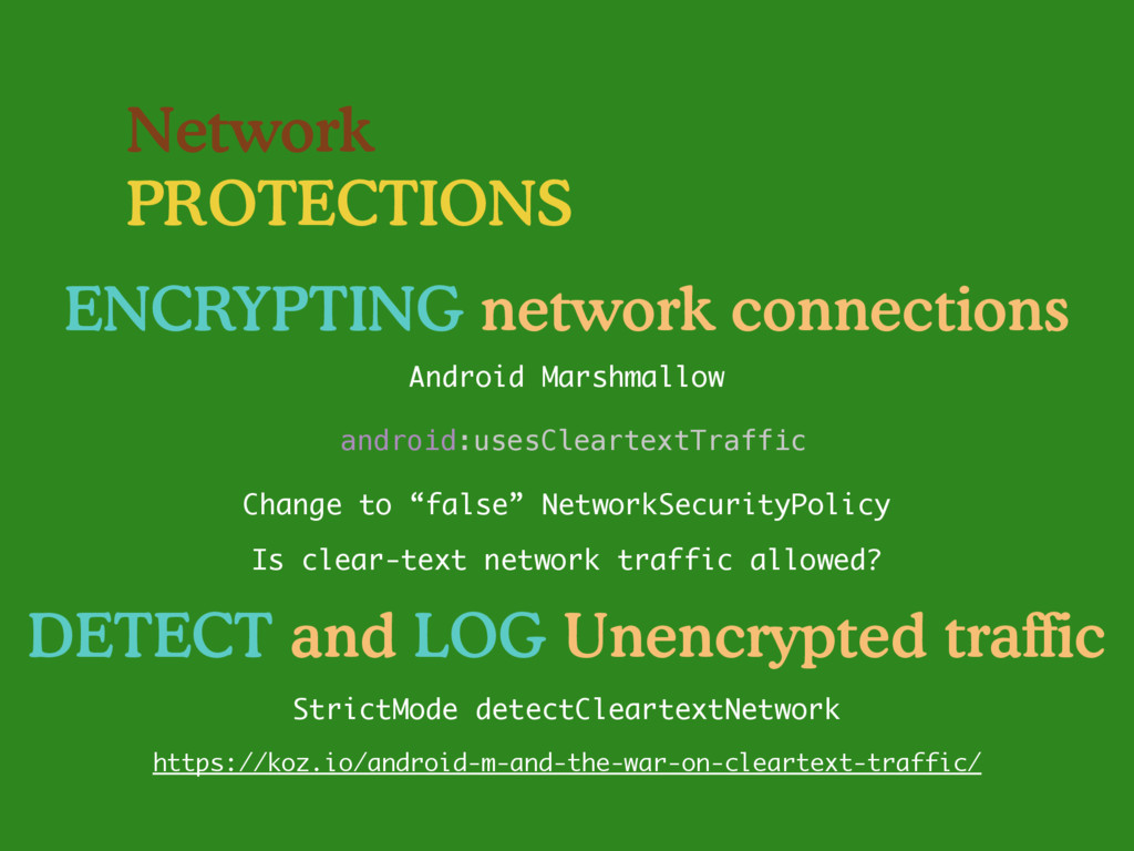 Network PROTECTIONS ENCRYPTING network connecti...