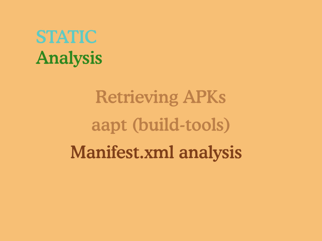 Retrieving APKs aapt (build-tools) Manifest.xml...