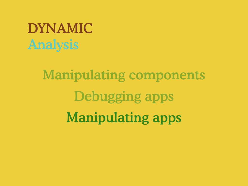 DYNAMIC Analysis Manipulating components Debugg...