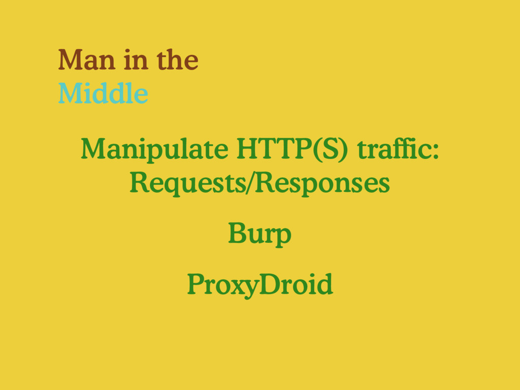 Man in the Middle Manipulate HTTP(S) traffic: R...