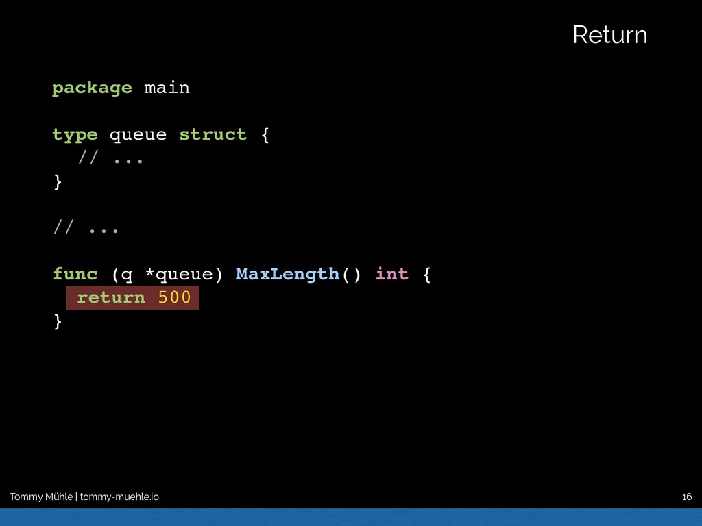 package main type queue struct { // ... } // .....