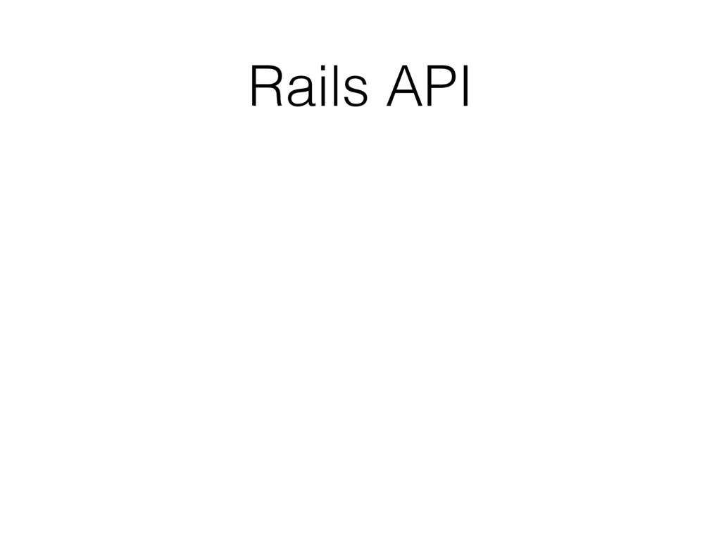 Rails API