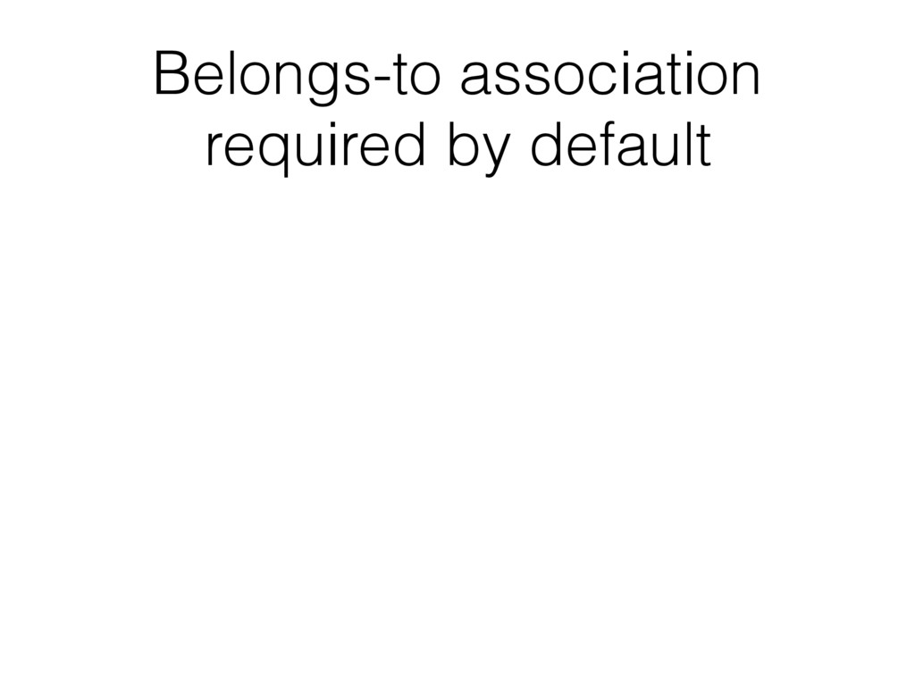Belongs-to association required by default