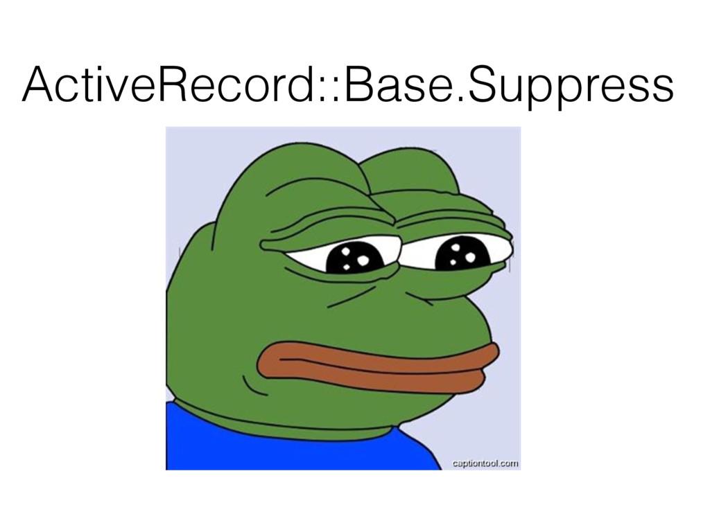 ActiveRecord::Base.Suppress