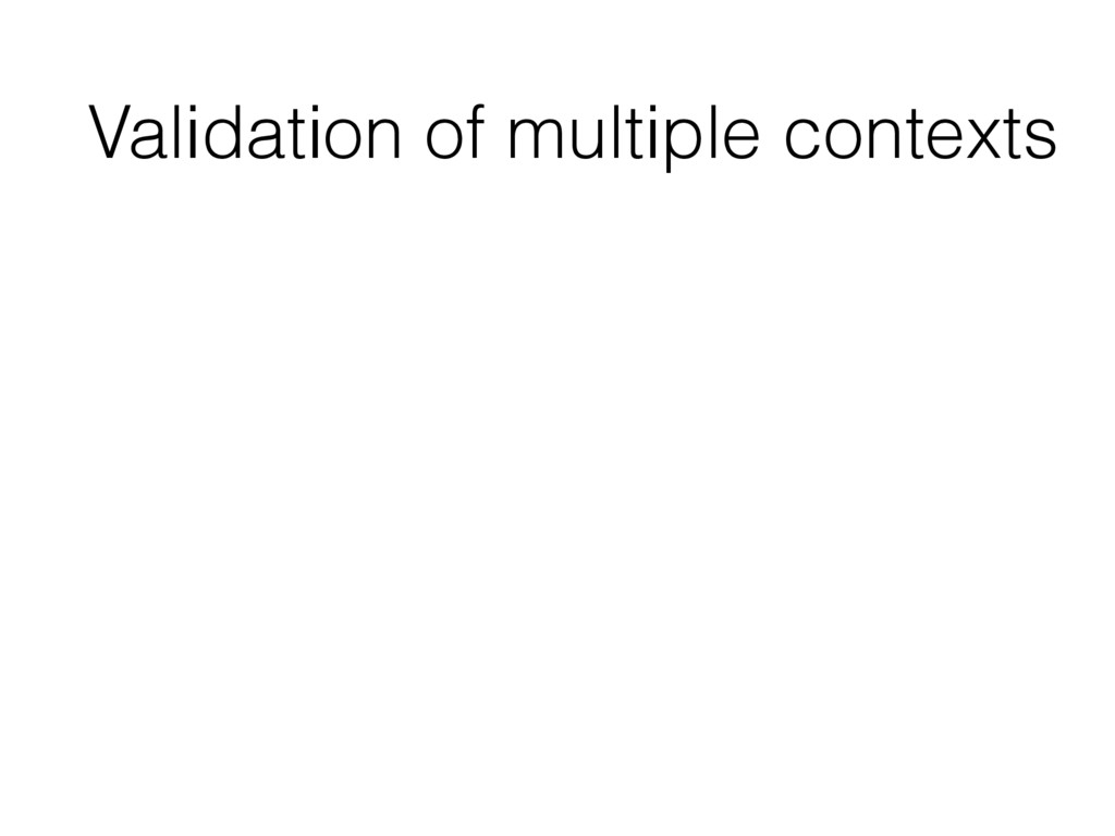 Validation of multiple contexts