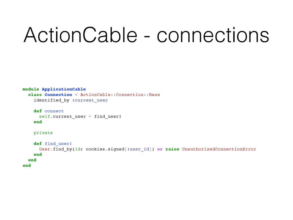 ActionCable - connections module ApplicationCab...