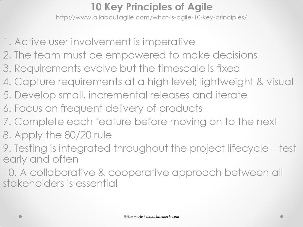 @jkuemerle / www.kuemerle.com 10 Key Principles...
