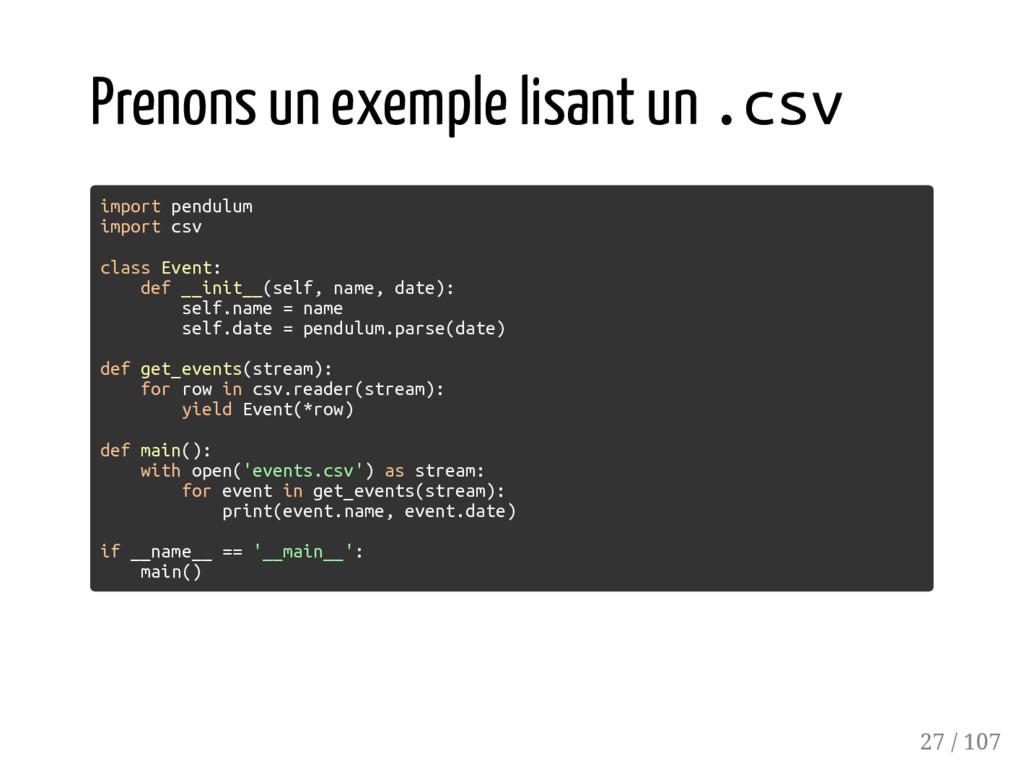 Prenons un exemple lisant un .csv import pendul...