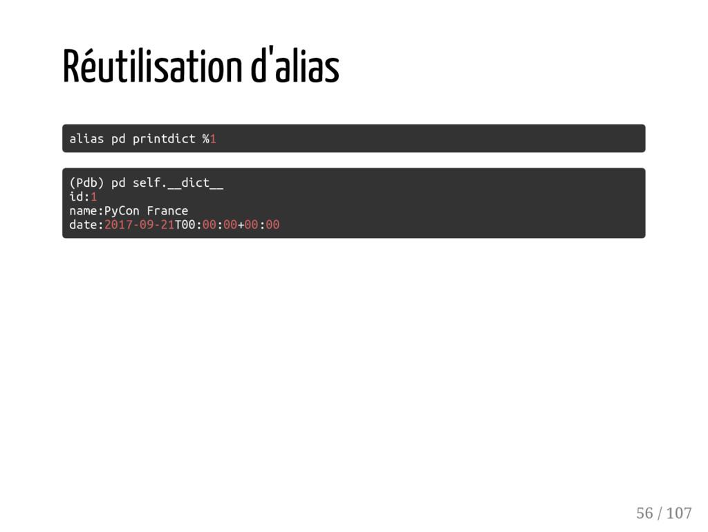 Réutilisation d'alias alias pd printdict %1 (Pd...