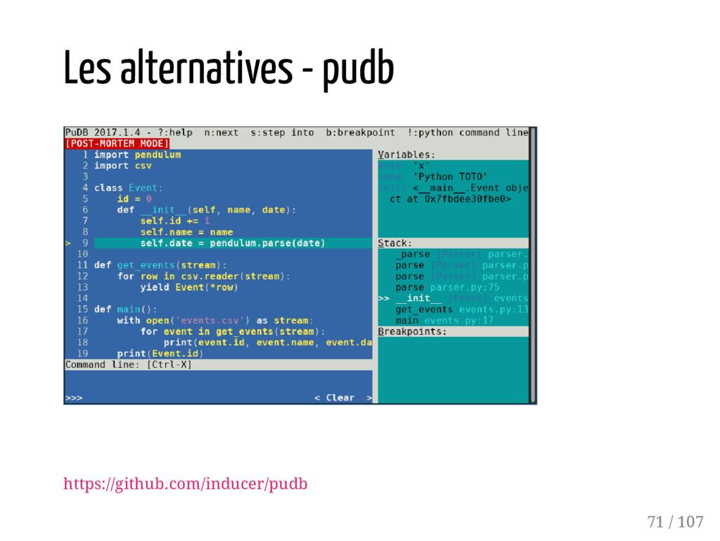 Les alternatives - pudb https://github.com/indu...