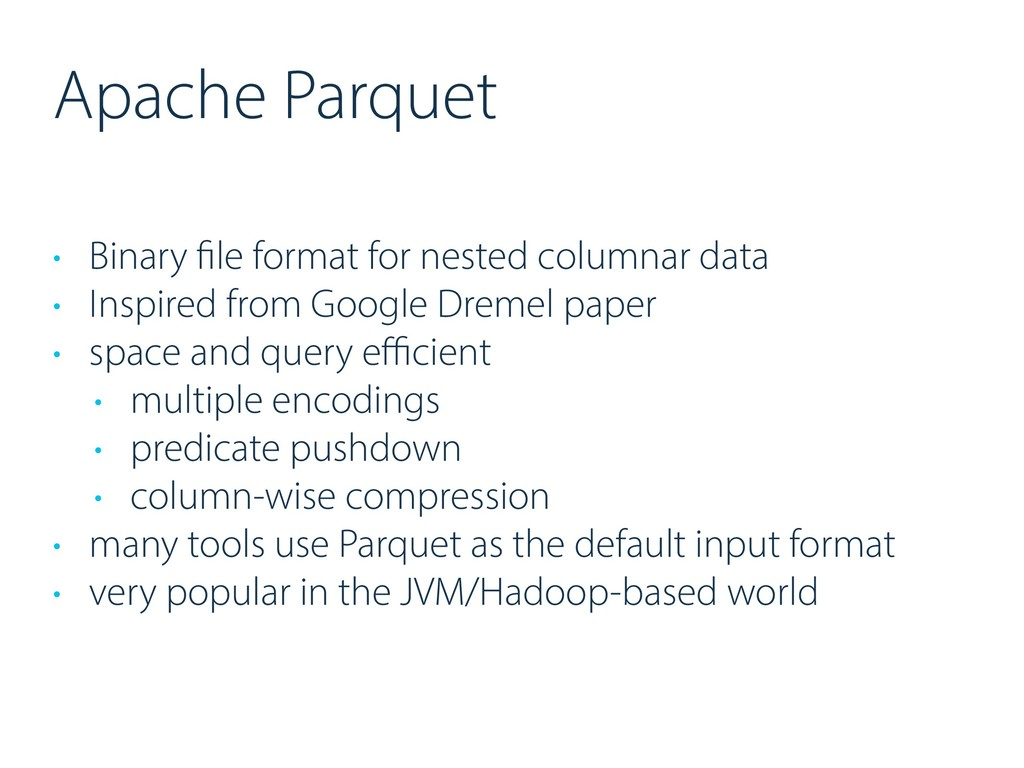 Apache Parquet • Binary file format for nested ...