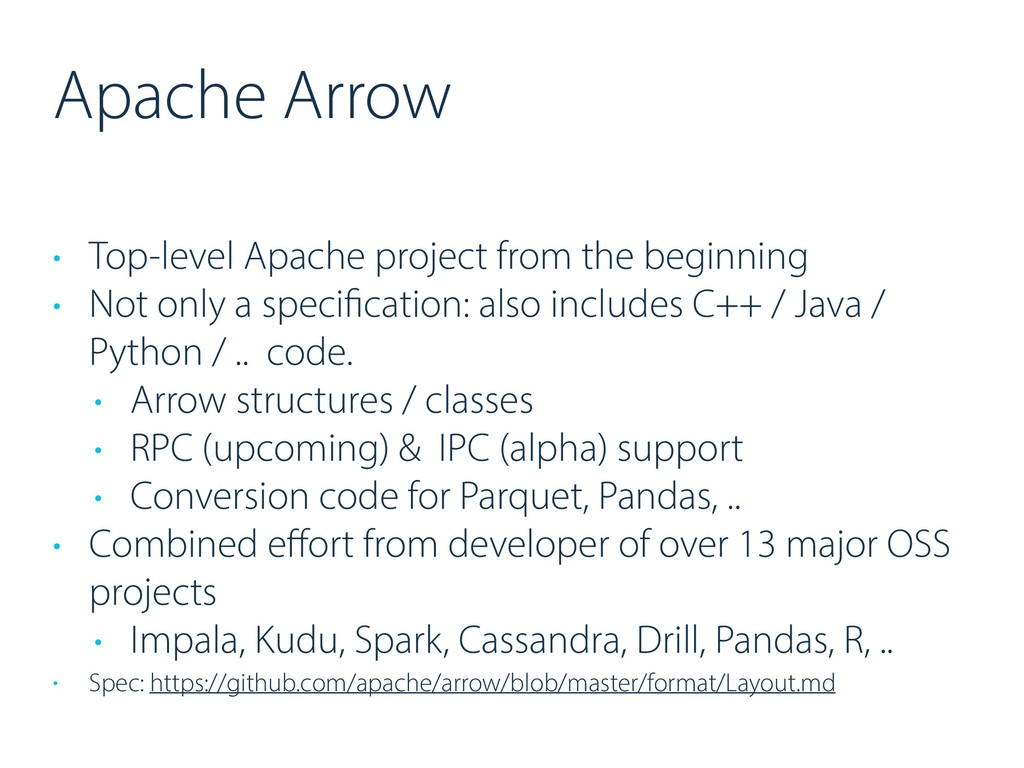 Apache Arrow • Top-level Apache project from th...