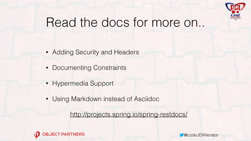 @codeJENNerator Read the docs for more on.. • A...