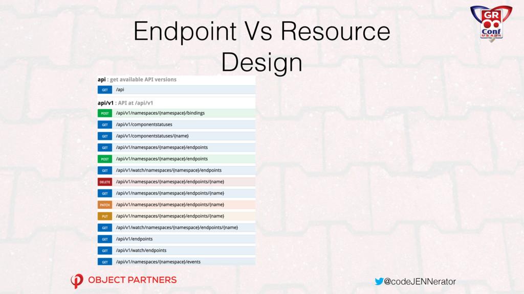 @codeJENNerator Endpoint Vs Resource Design