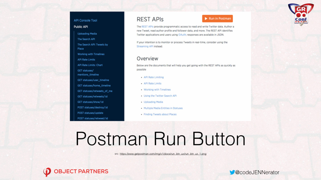 @codeJENNerator Postman Run Button src: https:/...