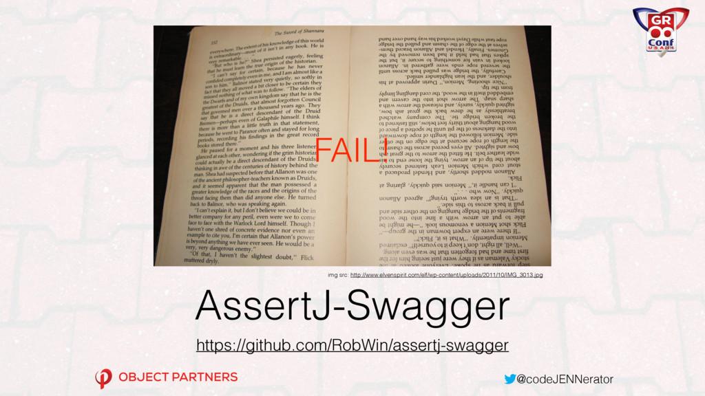 @codeJENNerator AssertJ-Swagger https://github....