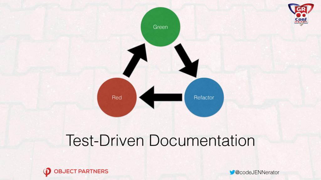 @codeJENNerator Test-Driven Documentation Green...
