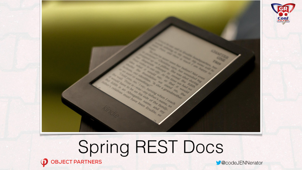 @codeJENNerator Spring REST Docs