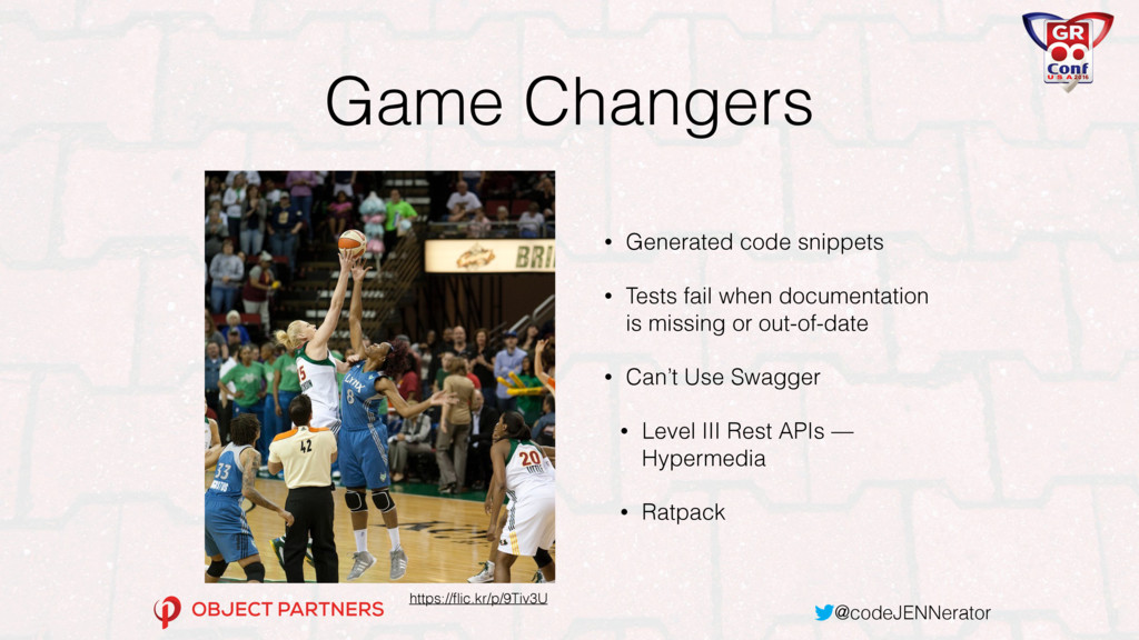 @codeJENNerator Game Changers • Generated code ...