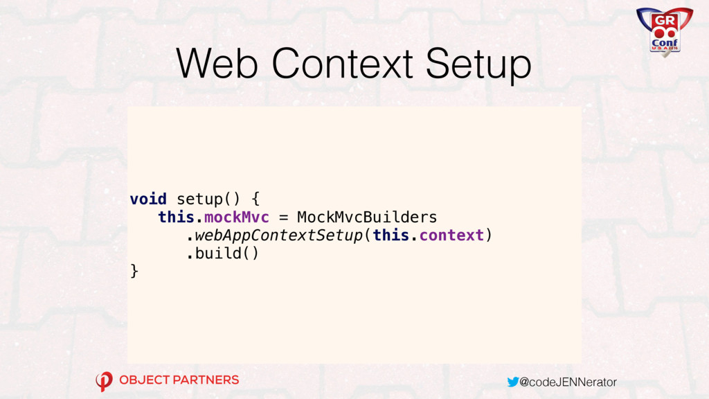 @codeJENNerator Web Context Setup void setup() ...