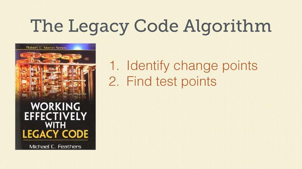 The Legacy Code Algorithm 1. Identify change po...