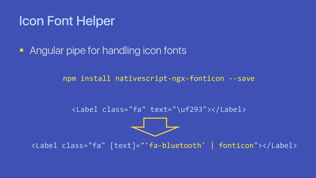 Icon Font Helper § Angular pipe for handling ic...