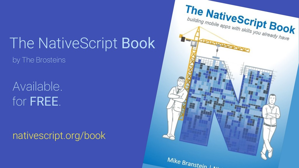 The NativeScript Book Available. for FREE. by T...