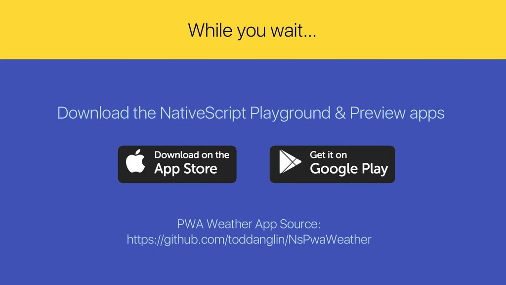 Download the NativeScript Playground & Preview ...