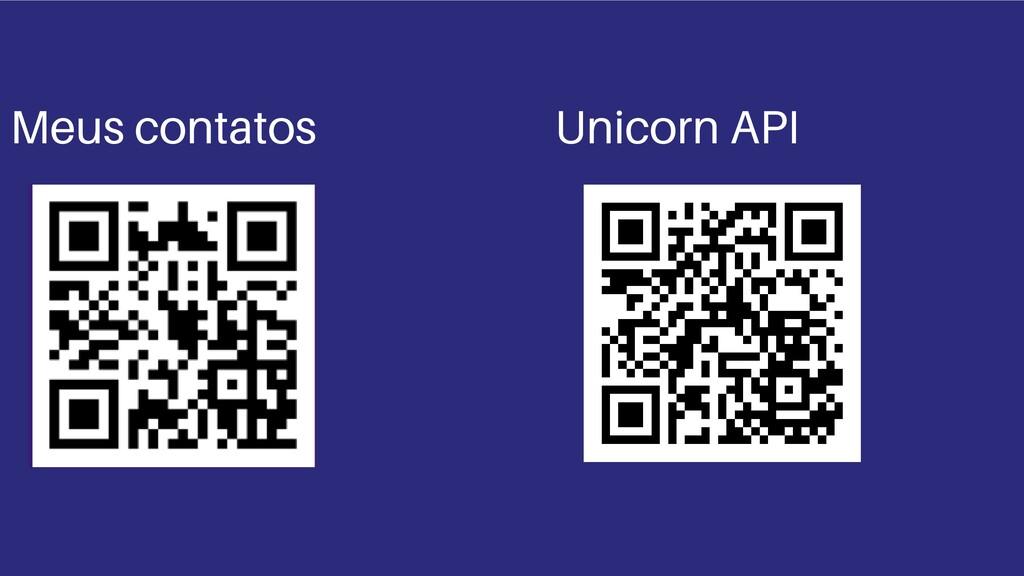 Demo Meus contatos Unicorn API