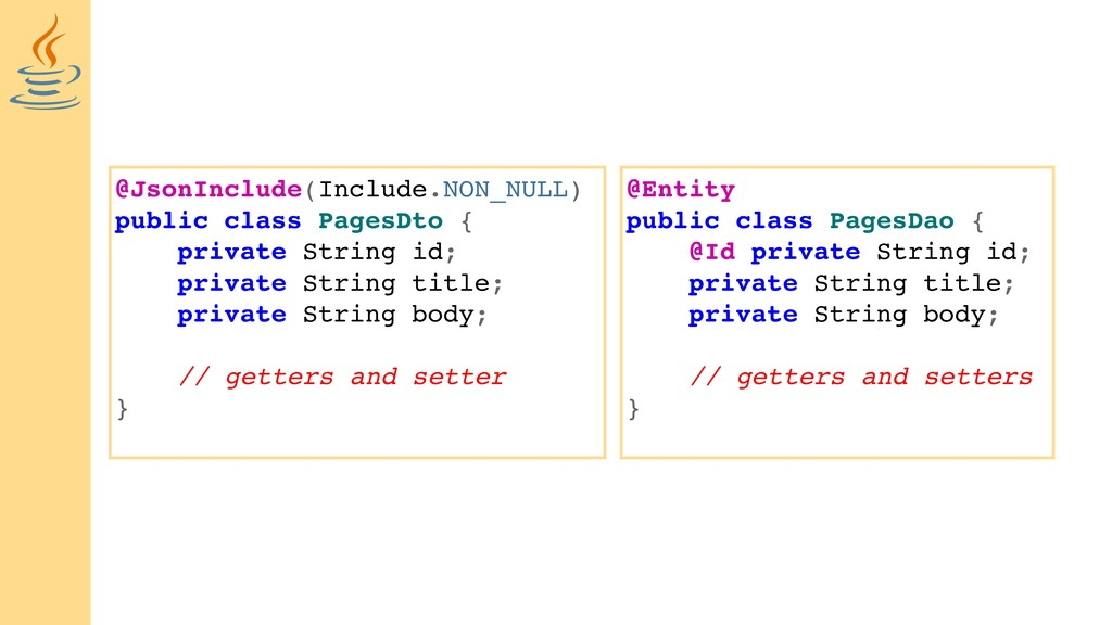 @JsonInclude(Include.NON_NULL) public class Pag...